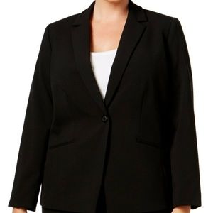 Tahari ASL Black Notched-Lapel Blazer NWT $149 22W